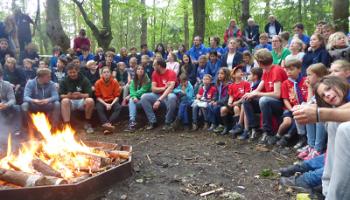 Scouting De Mohicanen viert drie jubilea met groepsweekend