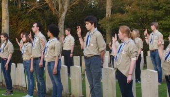 Scouting De Mohicanen herdenkt op drie plaatsen
